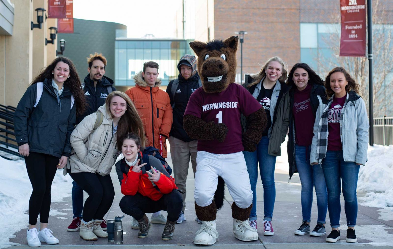 Group with Monte the Mustang