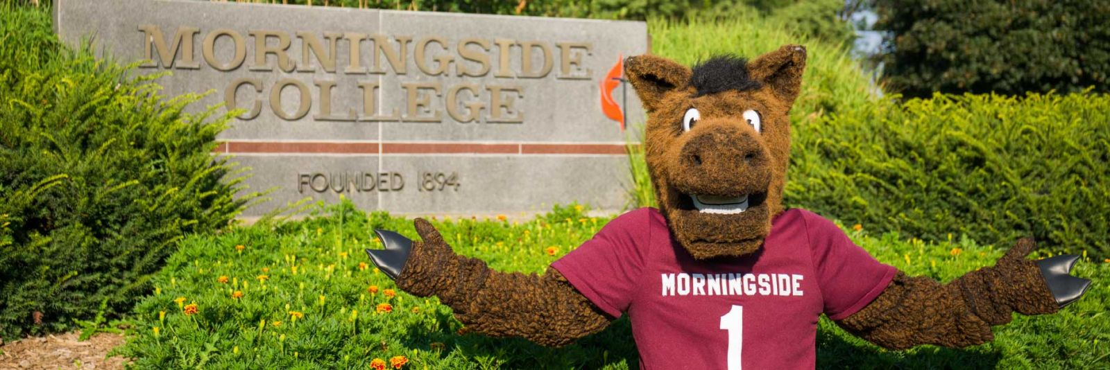 Monte in front of Morningside sign