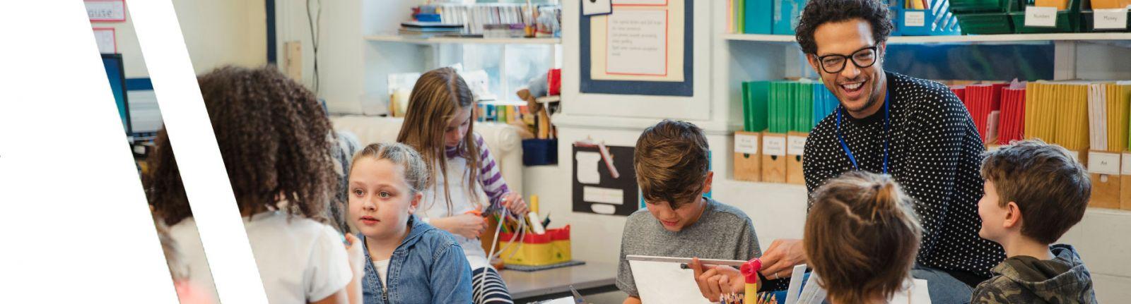 teacher intern in classroom