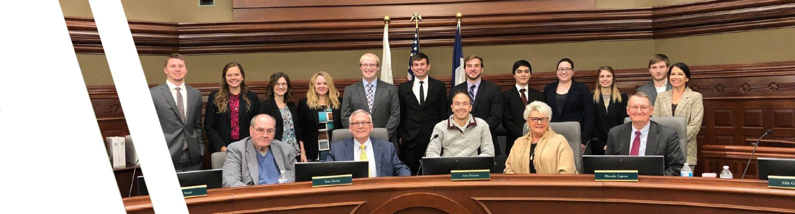 accounting students and city officials