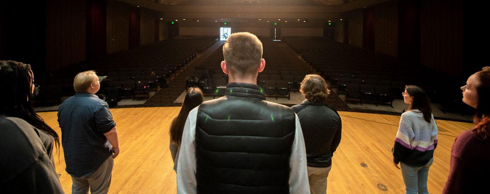 Two pianos in Eppley Auditorium