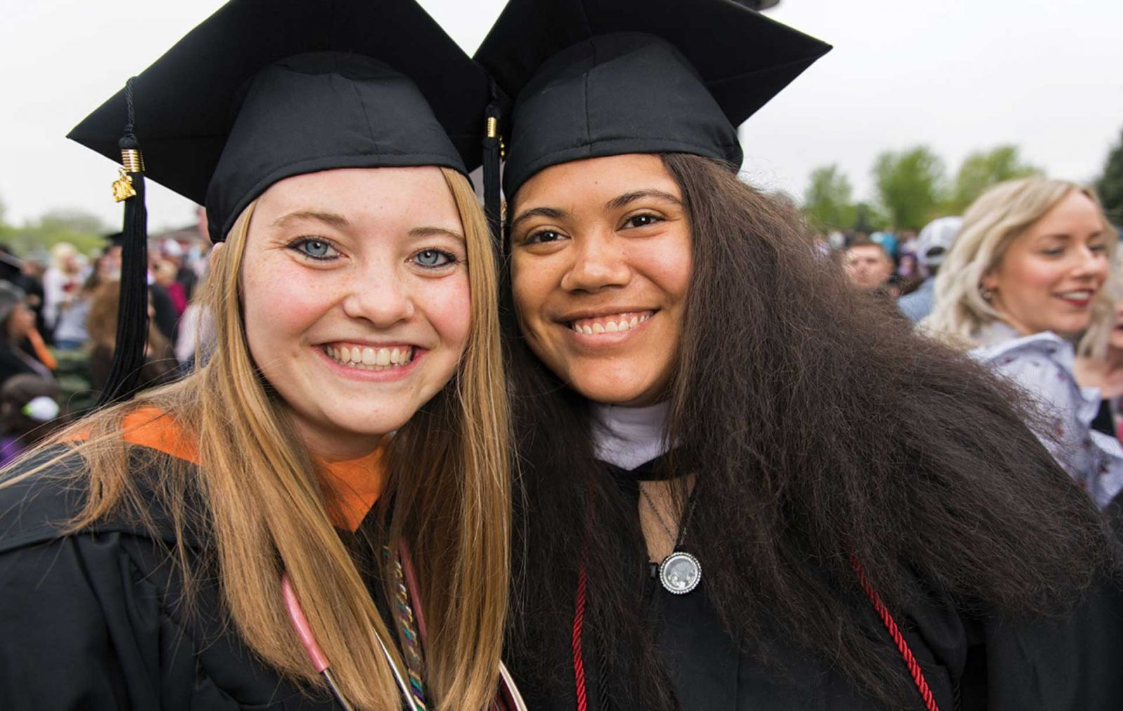 Young women at graduation