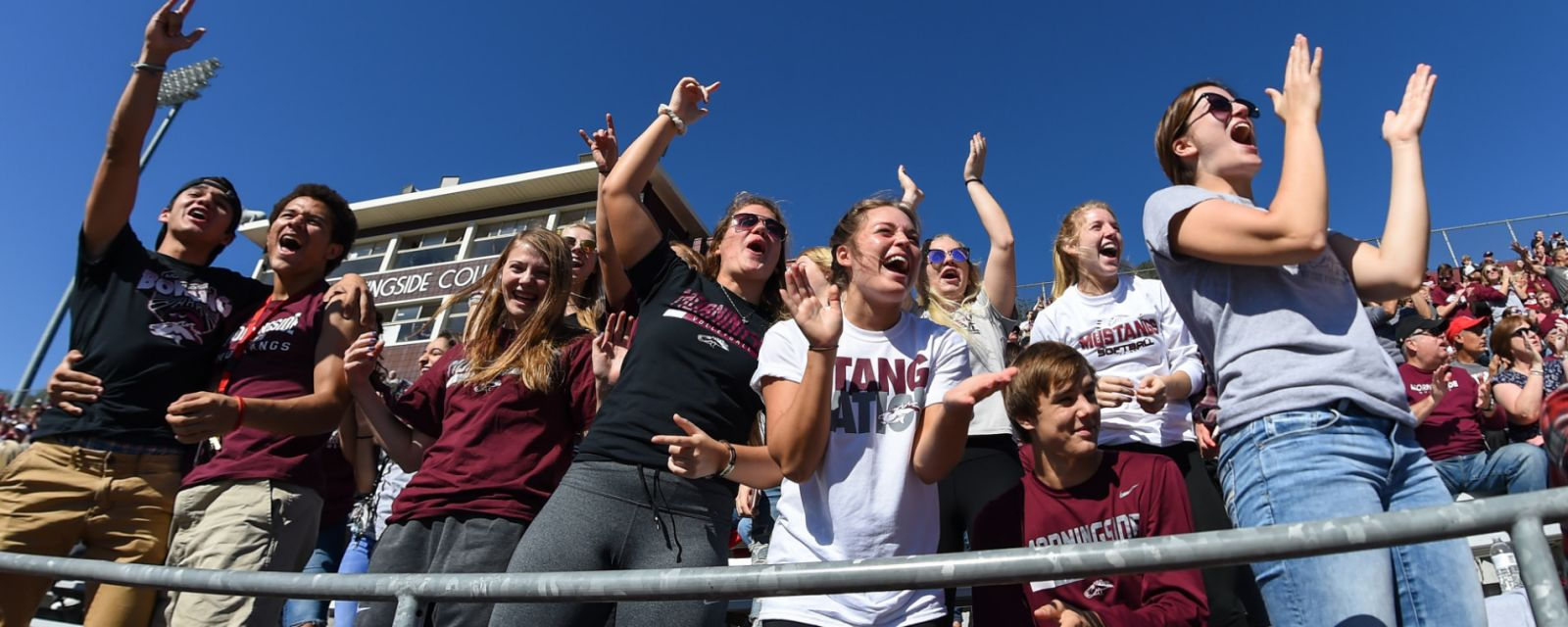 Morningside students cheering