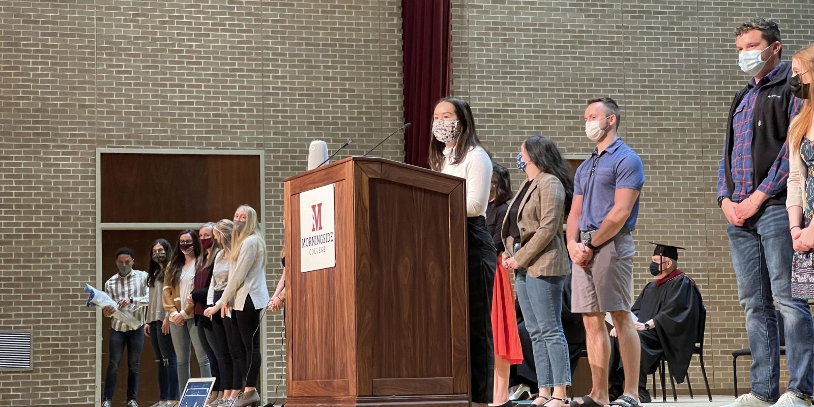 Omicron Delta Kappa (ODK) Honors Convocation people on stage