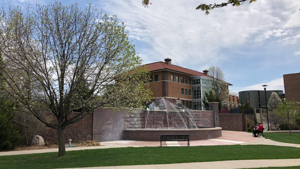 Morningside College fountain