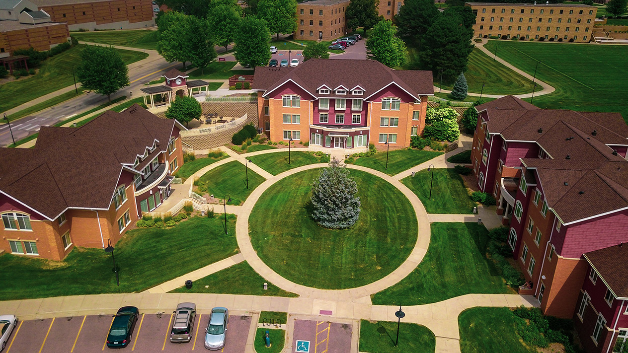 Aerial view of Morningside College