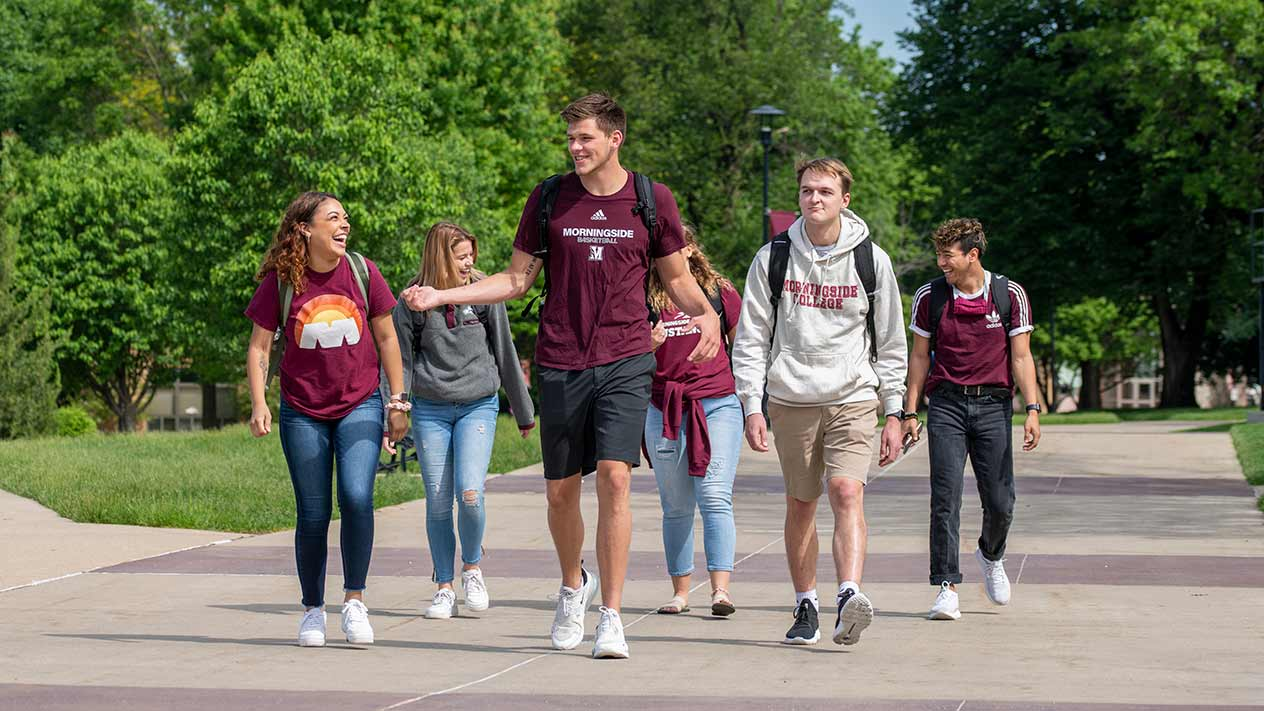 Students walking on Morningside campus