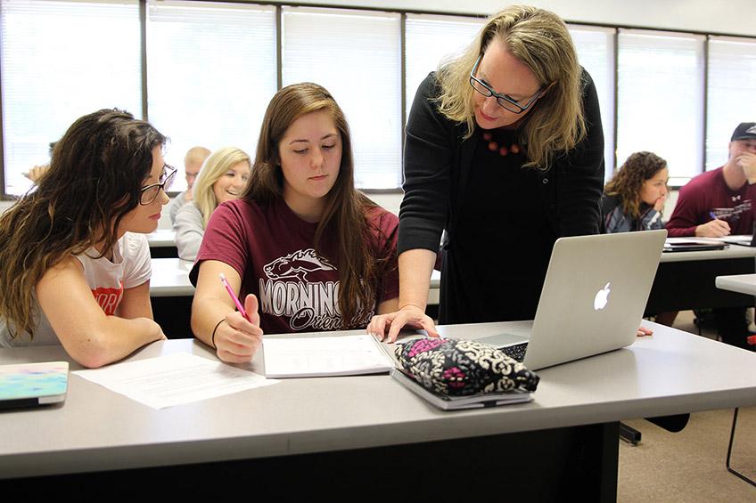 Undergraduate student in admissions