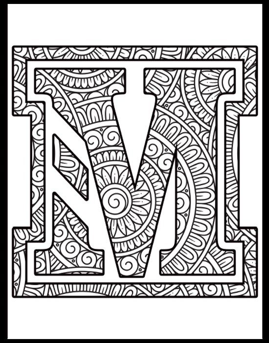 M Logo Coloring Page