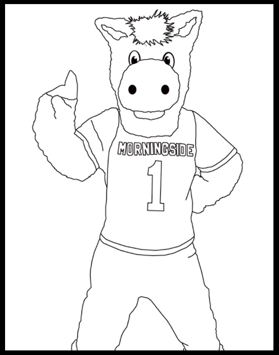 Monte the Mustang coloring page