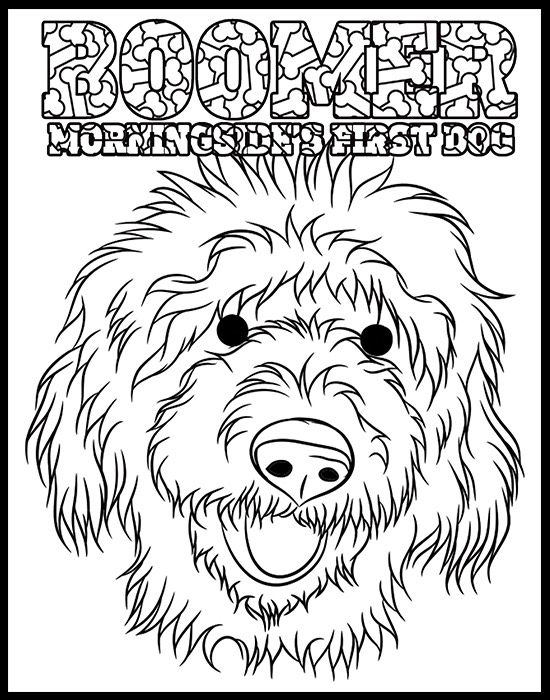 Boomer Morningside's First Dog Coloring Page preview