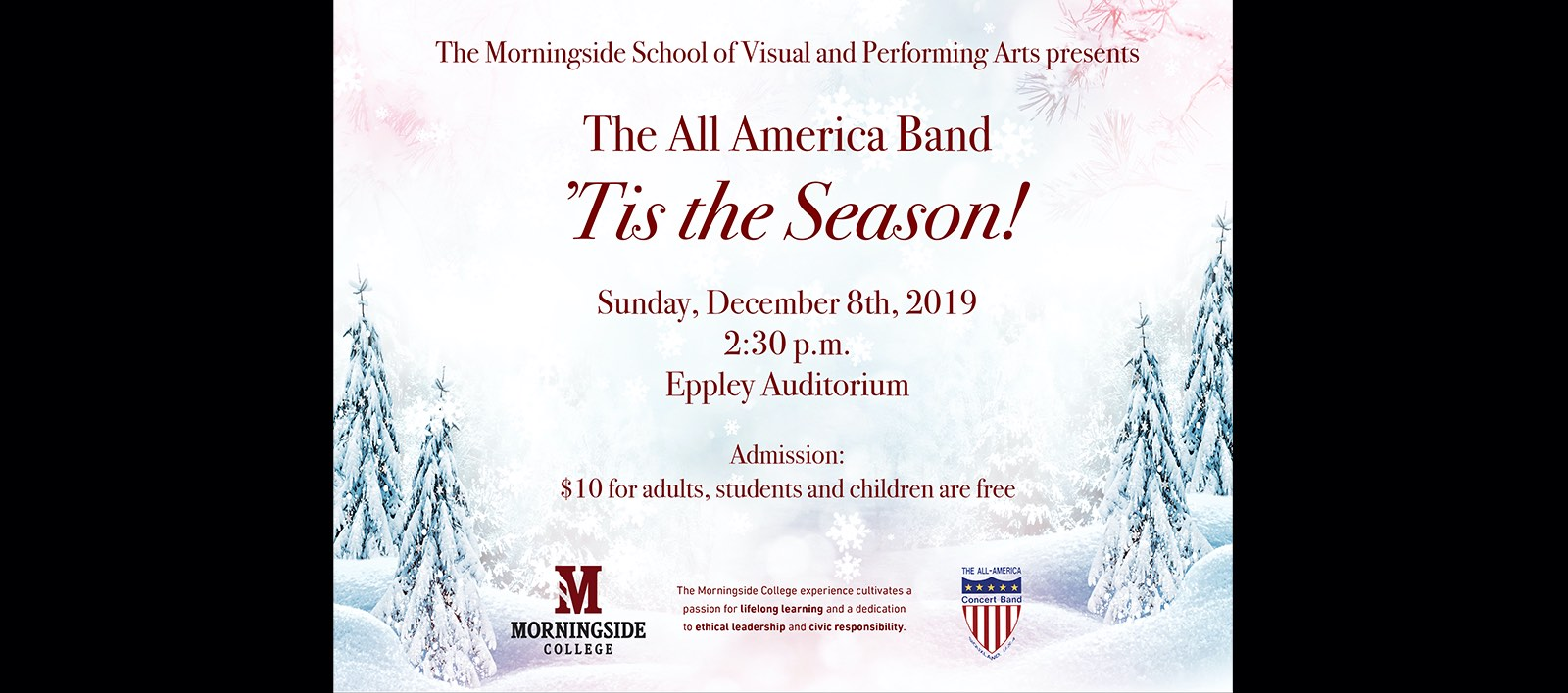 All America Band holiday concert poster
