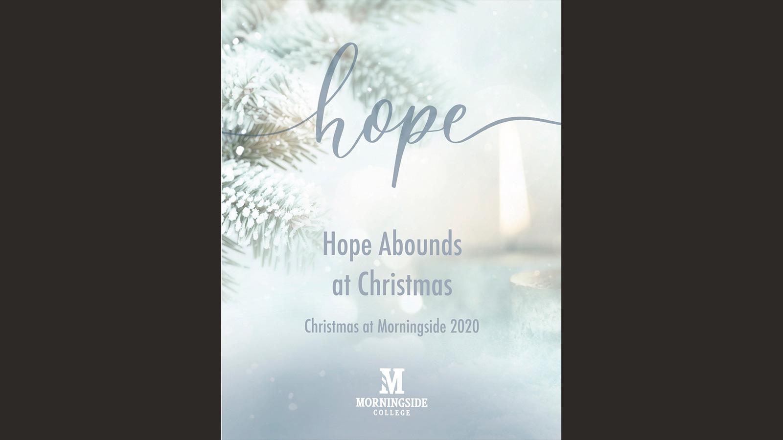 Christmas at Morningside 2020 program cover