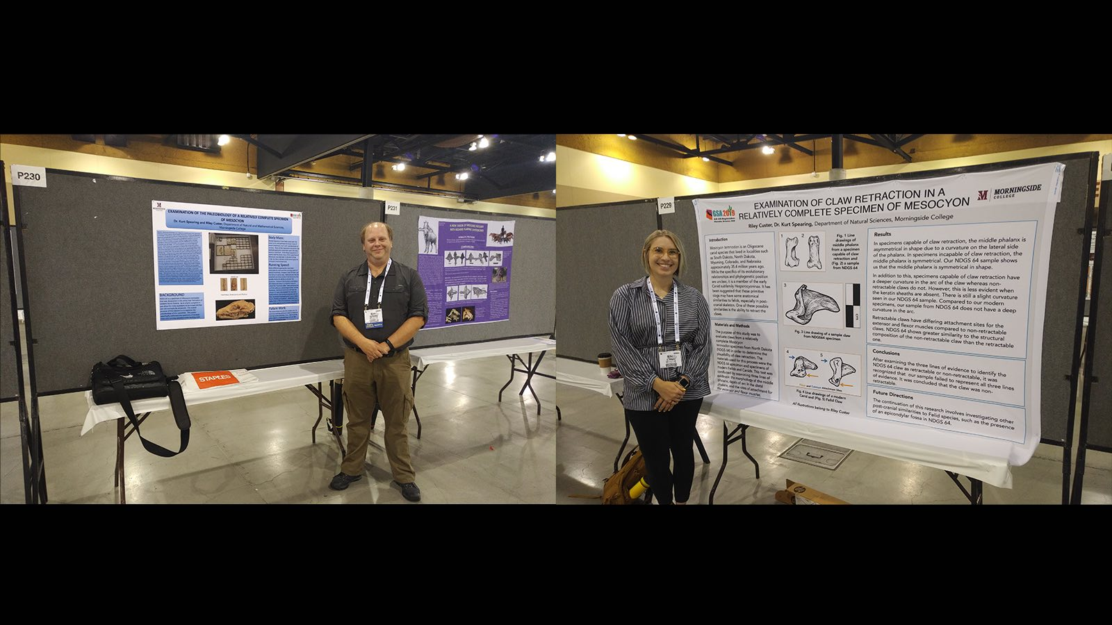 Riley Custer and Kurt Spearing at the 2019 Geological Society of America meeting