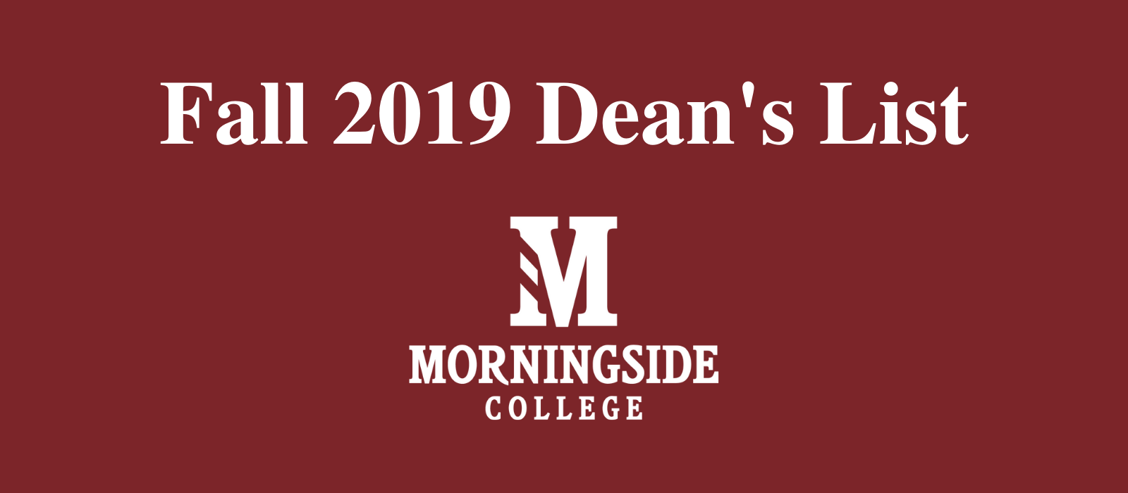 Cover image for the fall 2019 Dean's List press release