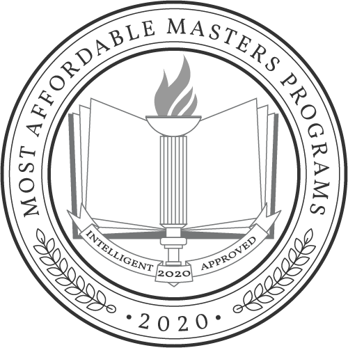 Intelligent.com badge for Most Affordable Masters Programs 2020