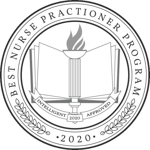 Intelligent.com badge for Nurse Practitioner programs 2020