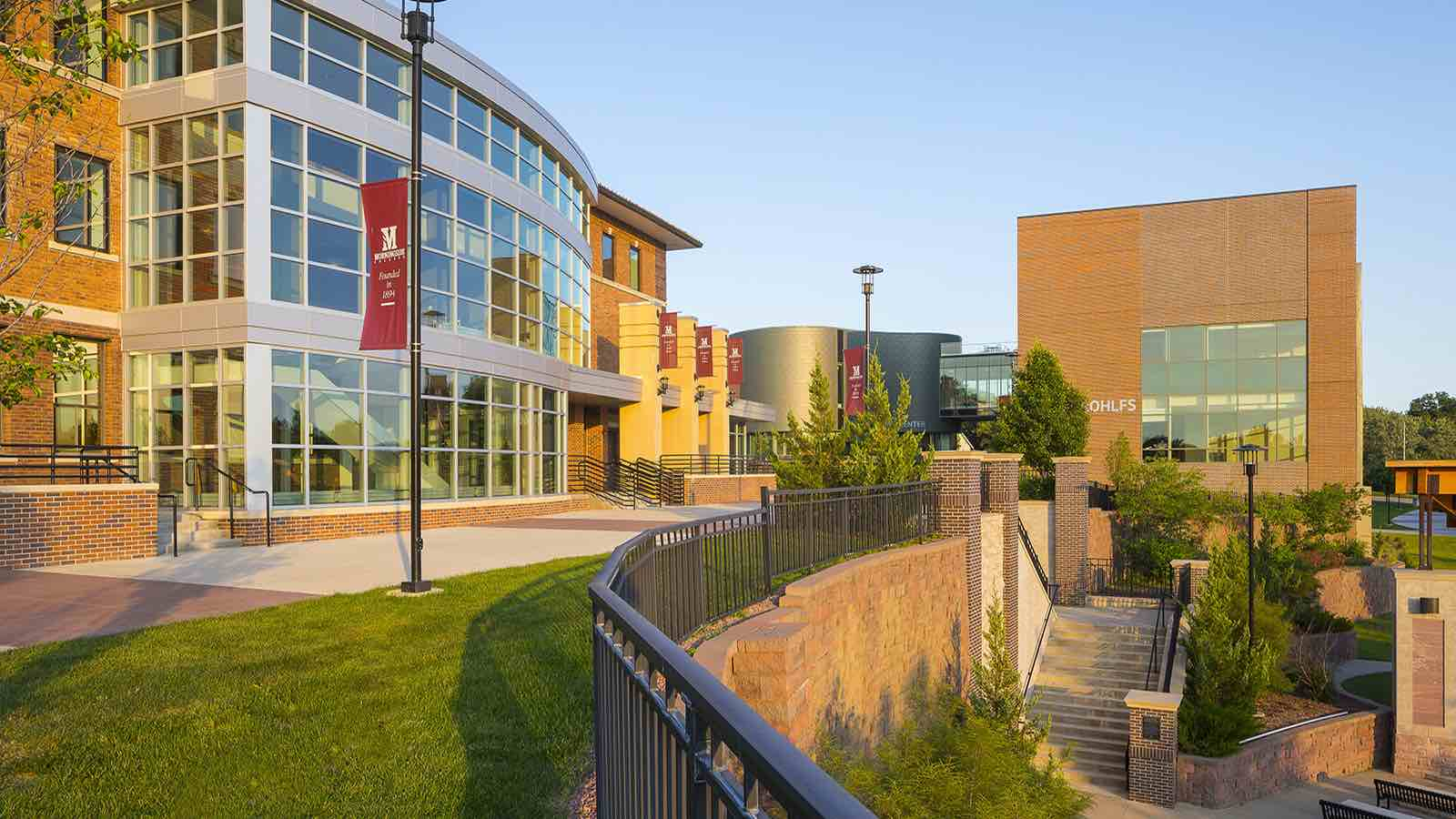 The exterior of the Hickman Johnson Furrow Learning Center at Morningside College in Sioux City, IA.