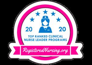 Badge for the 2020 Best Clinical Nurse Leaders programs ranked by RegisteredNursing.org