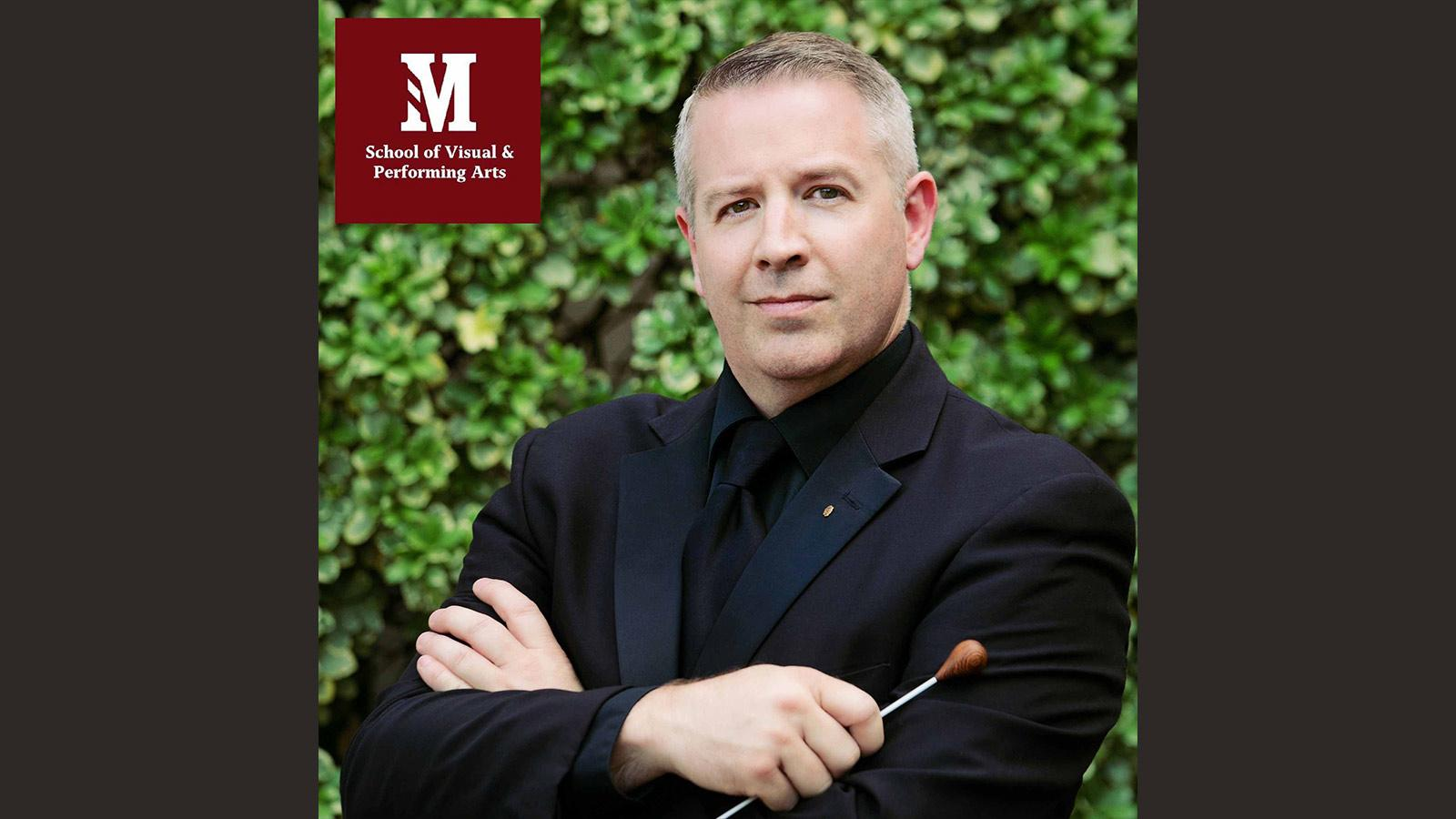 Martin Gaines' headshot for his announcement as the director of bands at Morningside in fall 2021.