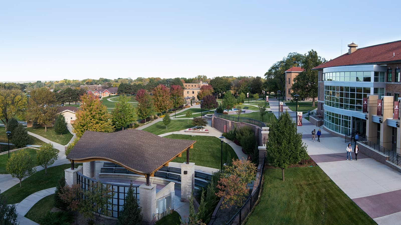 Panoramic photo of Morningside's campus