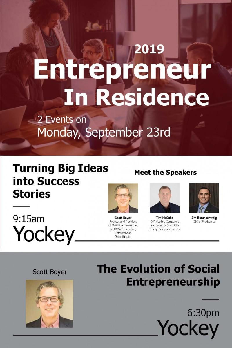 Entrepreneur in Residence 2019 poster