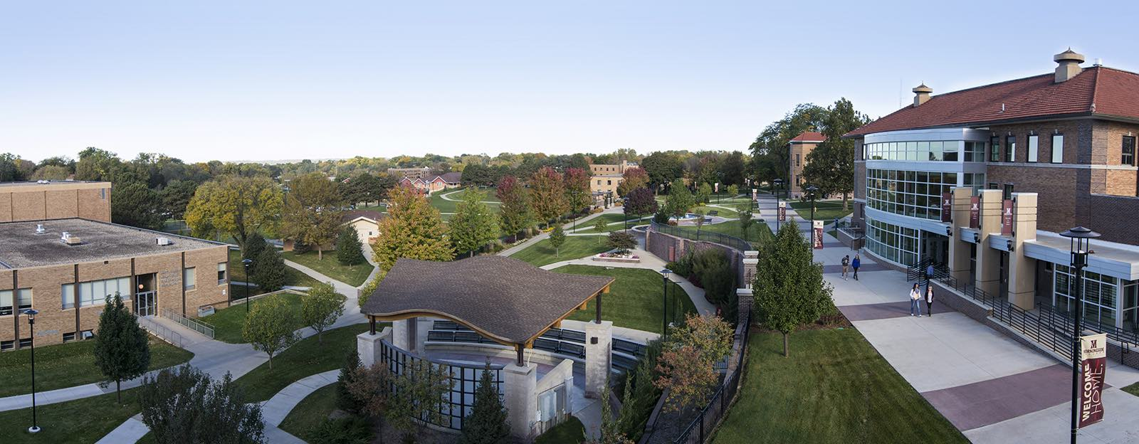 Aerial view of Morningside College campus