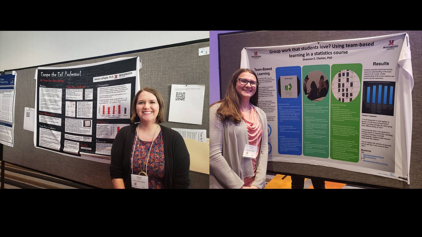 Claxton and LaPaglia at psychology conference