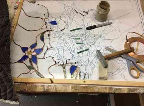 jay grooter stain glass in progress